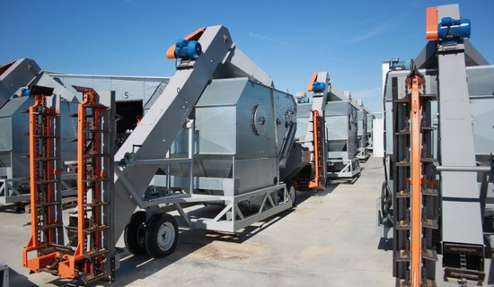 Mobile grain-cleaning complex ALFA MGC, 80-150 t/h