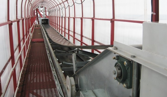 Belt conveyors from 45 to 2500 t/h